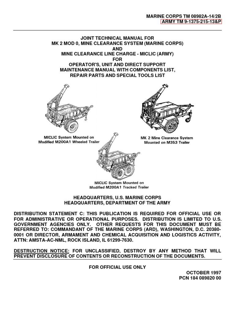 TM 9-1375-215-13&P | Trailer (Vehicle) | Vehicles