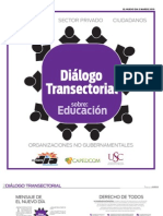 DIÁLOGO TRANSECTORIAL DE EDUCACIÓN