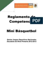Reglamento Mini Basquetbol 2013