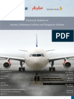 Analysis of AirAsia, Malaysian Airlines and Singapore Airlines