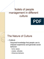 Models of People Mgmt in Diff Culture