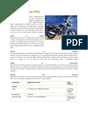 Bajaj Discover DTSi | Suspension (Vehicle) | Motorcycle
