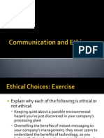 Communication and Ethics