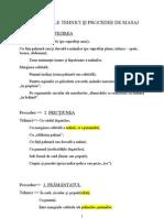 PRINCIPALELE TEHNICI ŞI PROCEDEE DE MASAJ