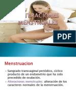 Alteraciones de La Menstruacion