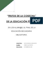 investigacion sociológica frutos de la cosecha en educacion fisica