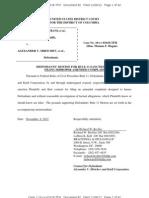 Motion for Rule 11 Sanctions of Plaintiffs D and I Hourani for Filing Improper Amended Complaint.pdf