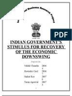 Indian Government Stimulus