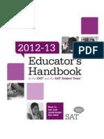 Educators Handbook for Sat and Sat Subject Tests