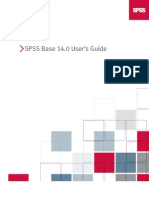 SPSS Base 14.0 User's Guide
