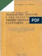 Napoleão Mendes de Almeida_Tradução da maior parte dos exercícios e excertos da Gramática Latina