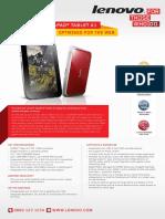 Ideapad Tablet k1 Datasheet