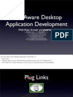 Peer-Aware Desktop Application Development
