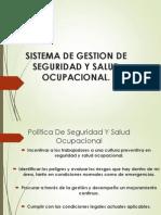 Sistema de Gestion de Seguridad y Salud Ocupacional.