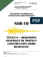 NSR-10 Titulo A