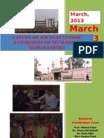 Socio Economic Profile of Muslims in Maharashtra by Economics Department SNDT, Mumbai Report for Maharashtra State Minority Commission-2!04!2013