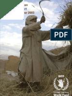 WFP Afghanistan Quarterly Report July - September 2003
