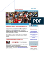 PublicSchoolOptions.org April 2013 Newsletter