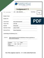 Assignment 1 Winter 2013 Gen 104