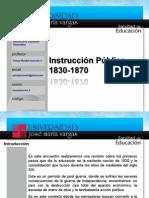 Instruccion Publica 1830-1870