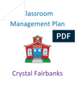 classroom management plan cover page