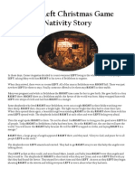 Right Left Christmas Game Nativity Story and Other Christmas Games