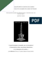 Le Régime Ecossais Rectifié et la doctrine de la matière