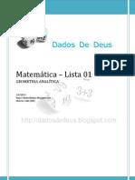 Marcos Valle - Matemática - Lista 01 (geometria analítica)
