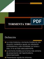 Tormenta Tiroidea Clase