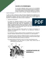 Informe introducción a la metalúrgica