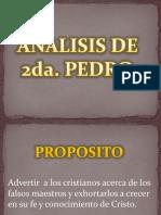2da. Pedro - Analisis