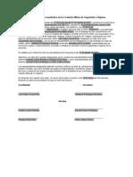 Modelo de acta constitutiva de la Comisión Mixta de Seguridad e Higiene[1]