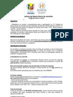 Regulamento 14° Festival de Dança Sacra  2013