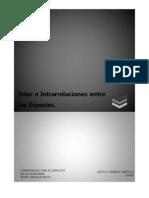 Inter e Intrarrelaciones Entre Las Especies