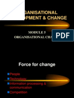 Organisational Change Development