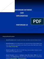 PBDI - Pertemuan 10 - Stored Procedure