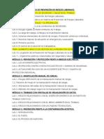 Programa Curso Prevencion de Riesgos en La Carpinteria de Madera