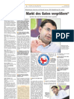 """Luxemburger Wort - 16/05/2008 - """"Den Markt des Guten vergrößern"""""""