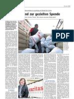 Luxemburger Wort - 23/04/2008 - Der Trend zur gezielten Spende