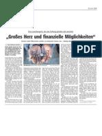 """Luxemburger Wort - 23/04/2008 - """"Großes Herz und finanzielle Möglichkeiten"""""""