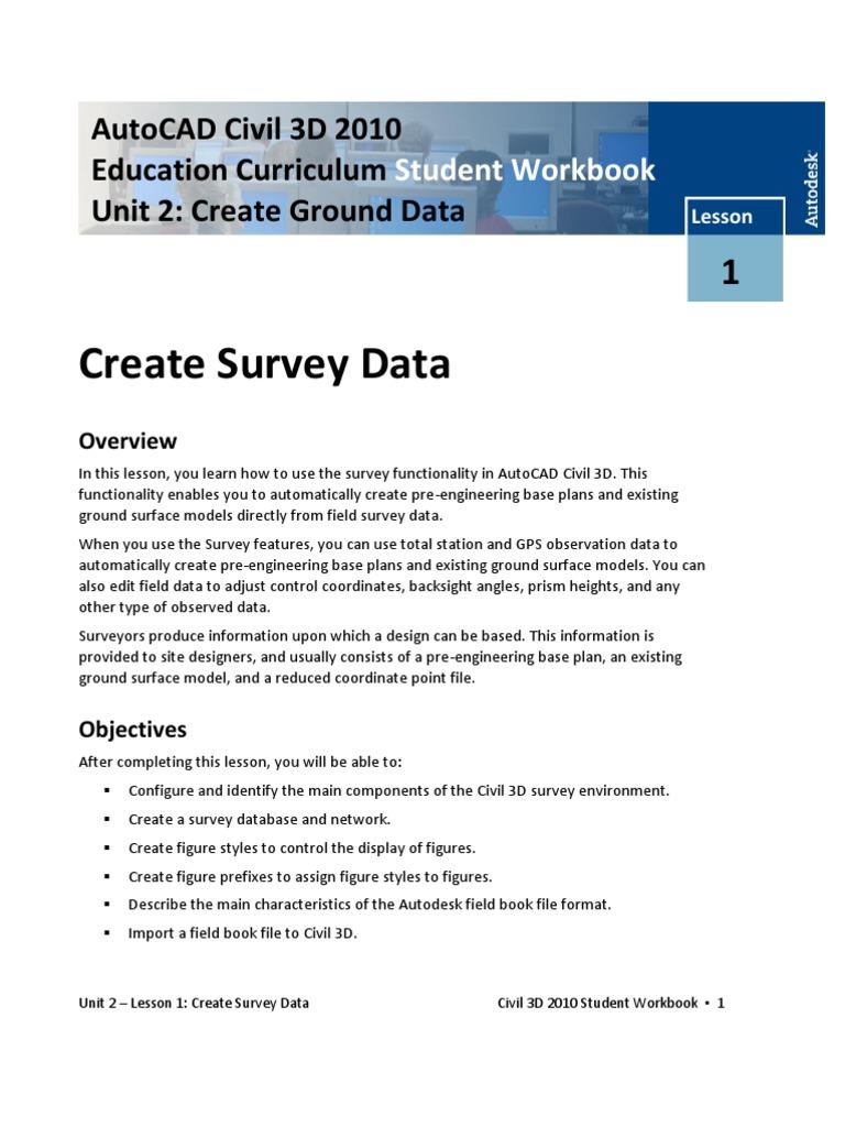 2-1CreateSurveyData   Surveying   Databases