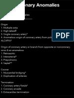 Coronary Anomalies