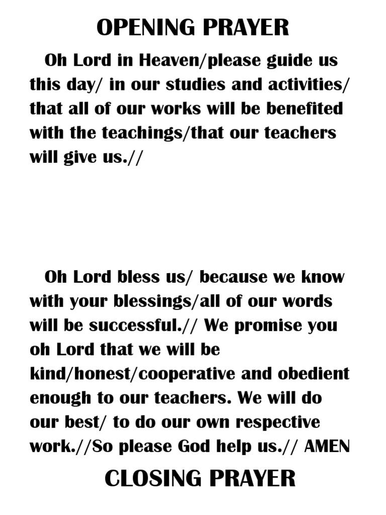 Prayer Class
