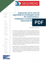 Posibilidades y Necesidades de Una Intervencion Internacional