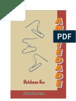 Ansiedade - Watchman Nee