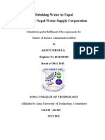 a report on analysis of nepal water supply corporation