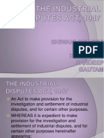 The Industrial Disputes Act, 1947