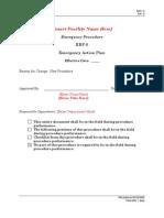 ERP 0 - Emergency Action Plan Rev 0