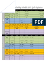 2013 riverway rowing club - term 2  3 training schedule april - september amended 24 march
