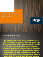 Development of Human Embryo in the Quran